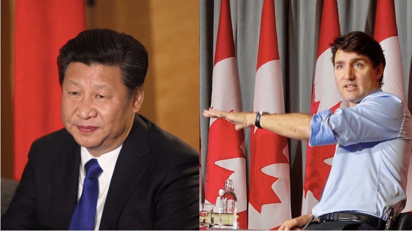 Justing Trudeau and Xi Jinping