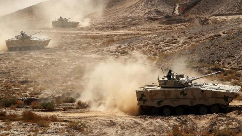 Chinese PLA Tibet Military Command drills