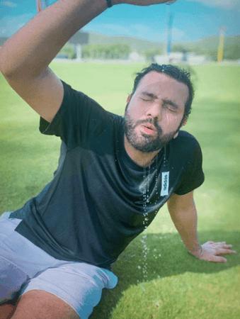 Rohit Sharma outdoor training