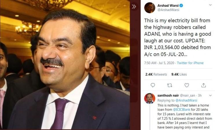 Arshad Warsi's tweet on Adani