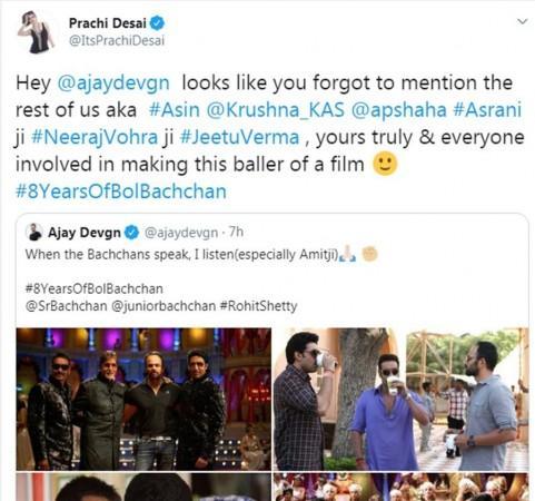 Prachi Desai, Ajay Devgn