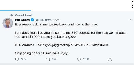Bill Gates hacked Twitter