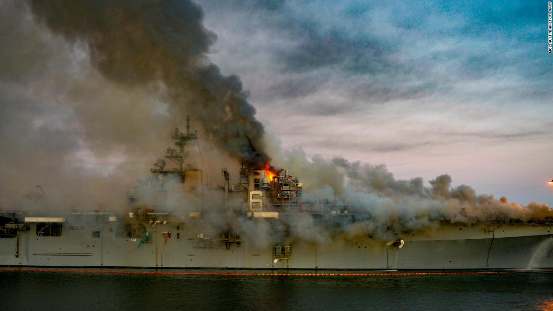 USS Bonhomme Richard: Ship fire could hinder the US Navy's Pacific fleet for years