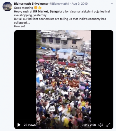 Tweet on Video of KR Market