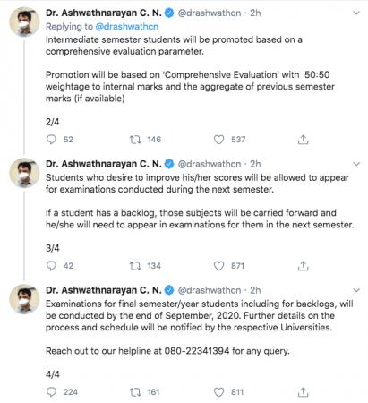Dr Ashwathnarayan tweets