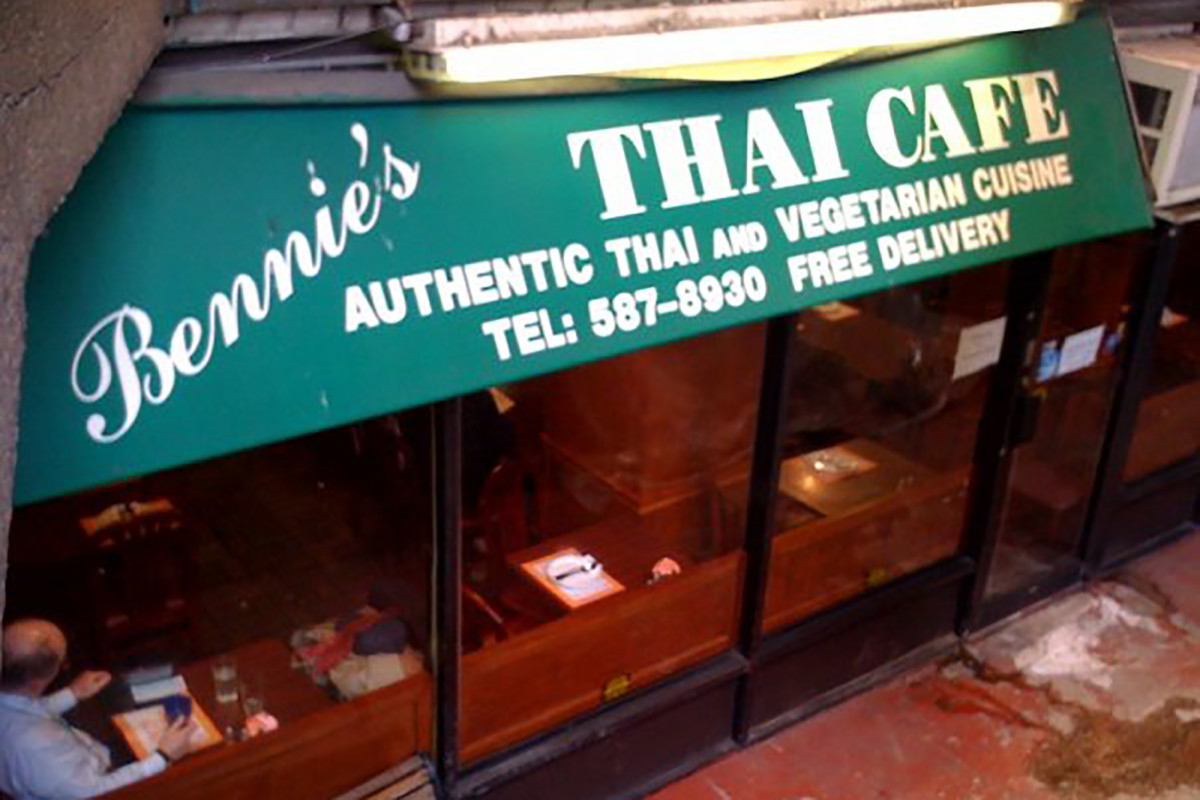 Bennie's Thai Cafe in lower Manhattan to close after 24 years