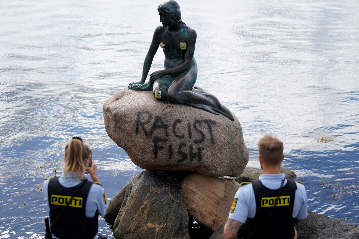 Copenhagen's Little Mermaid branded 'racist fish'