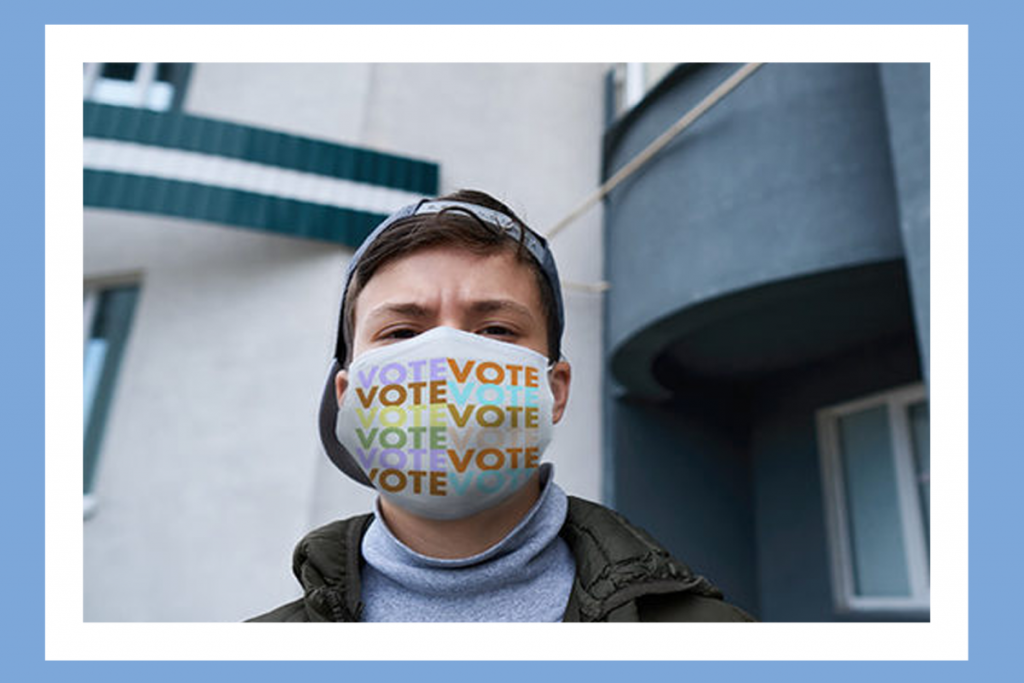 Enable this vivid experience mask provide as a reminder to get out and vote appear November