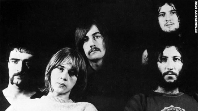 Fleetwood Mac members Peter Green, Jeremy Spencer, Mick Fleetwood, Danny Kirwan and John McVie.
