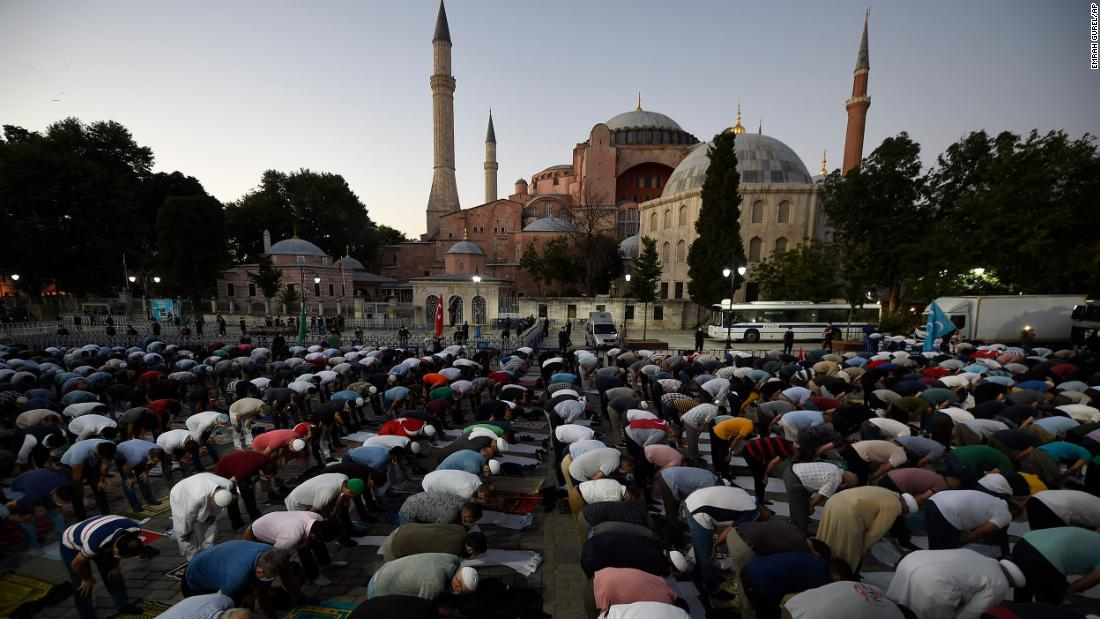 "Hagia Sophia: Pope Francis ""very saddened"" as Turkey converts museum into mosque"