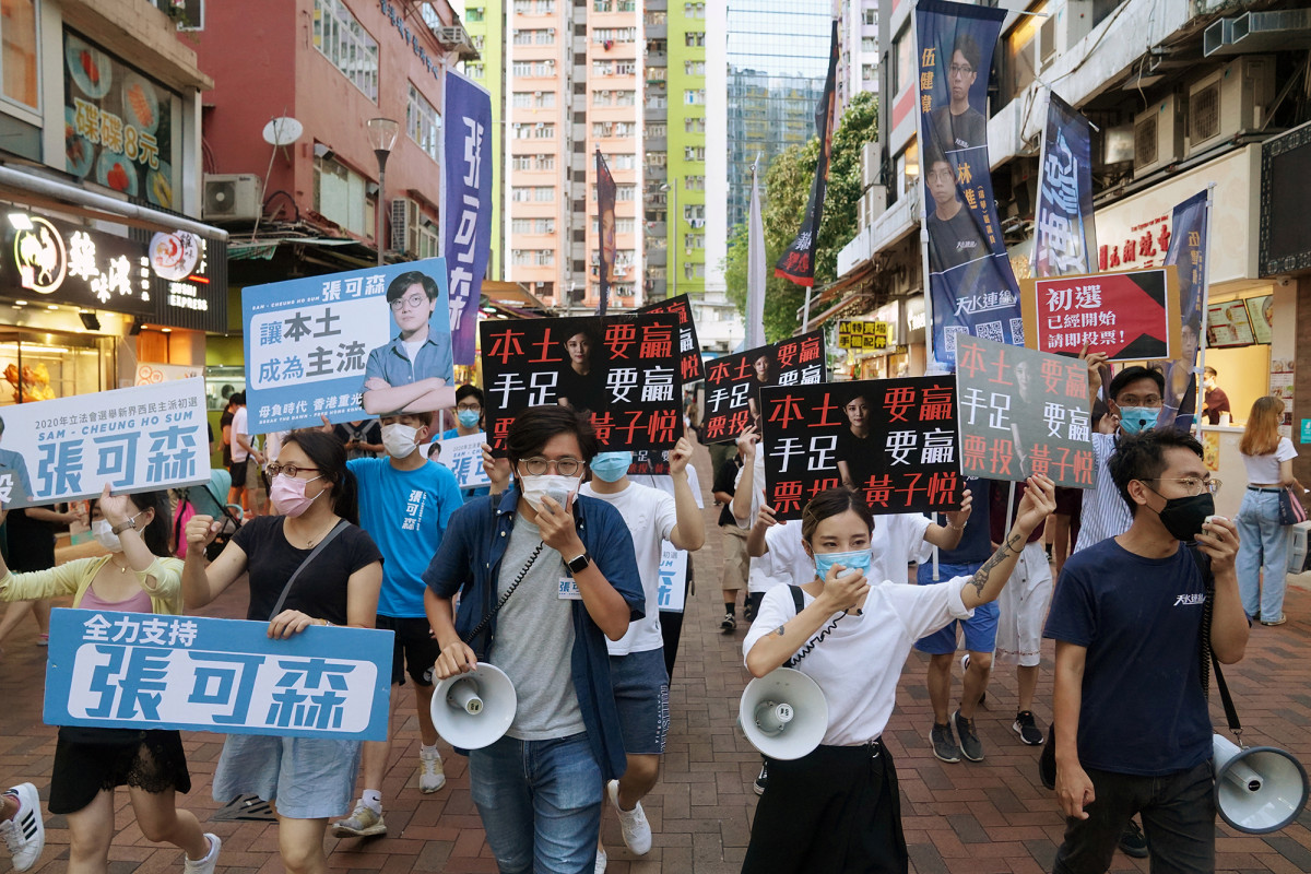 Hong Kong's 'young democrats' hope to blitz upcoming elections