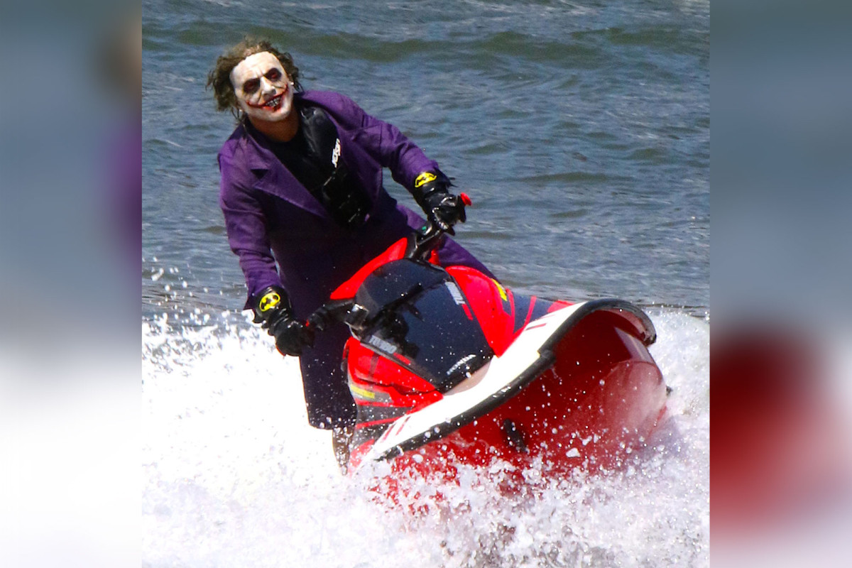 'Joker' spotted jet-skiing on the East River
