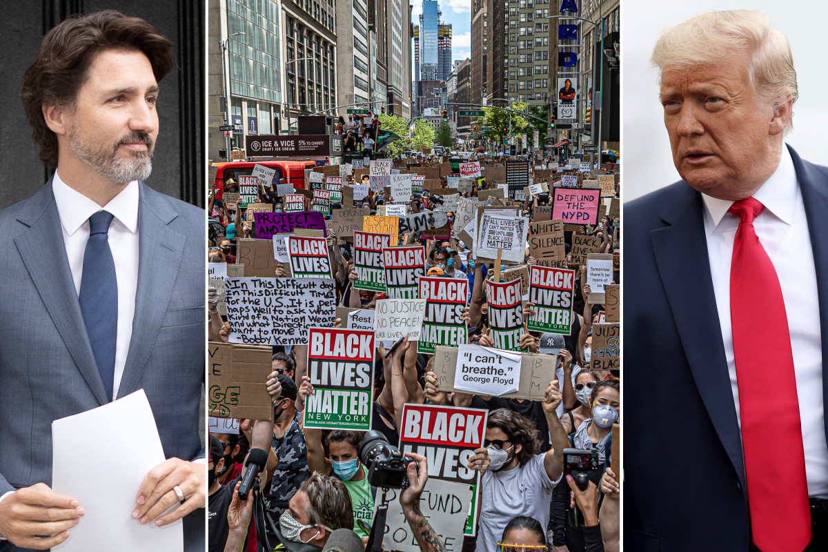 Justin Trudeau says he and Trump talked Black Lives Matter