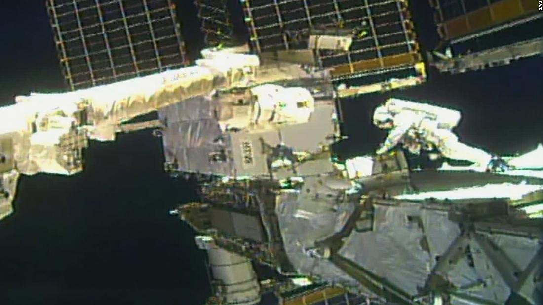 NASA astronauts conduct second spacewalk for space station power upgrades
