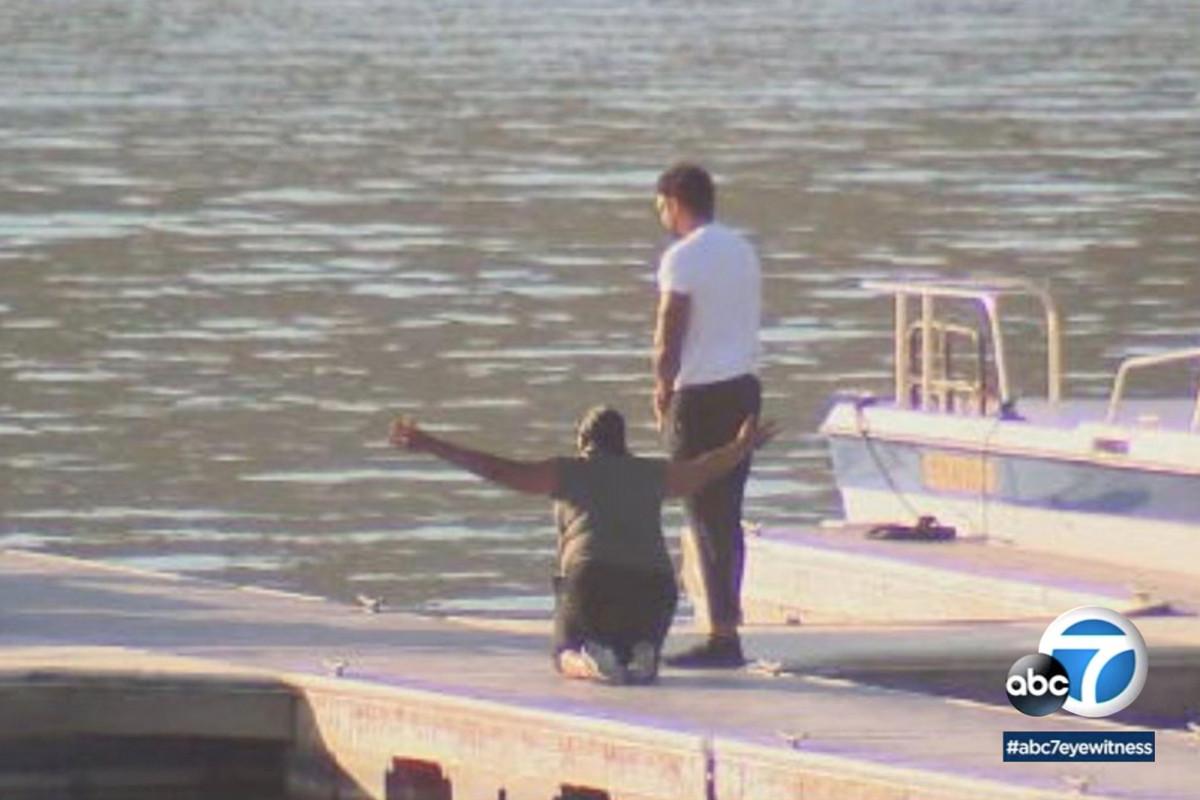 Naya Rivera's mother breaks down at lake where daughter went missing