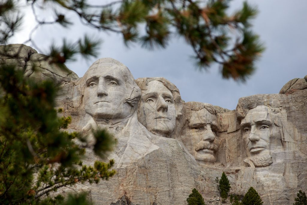 Mount Rushmore National Memorial in Keystone, South Dakota, is pictured on April 23.