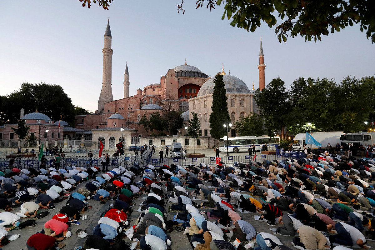 Turkey President Erdogan formally makes Hagia Sophia a mosque