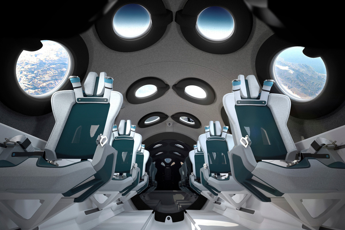 Virgin Galactic shows off passenger spaceship cabin interior