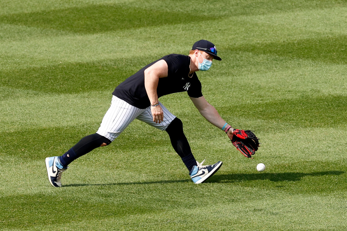 Yankees' Clint Frazier unfazed by critics of his mask wearing