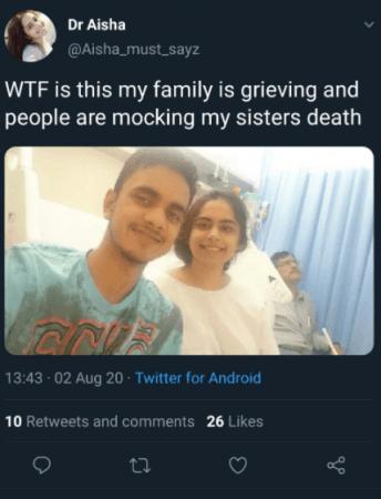 Dr Aisha tweet