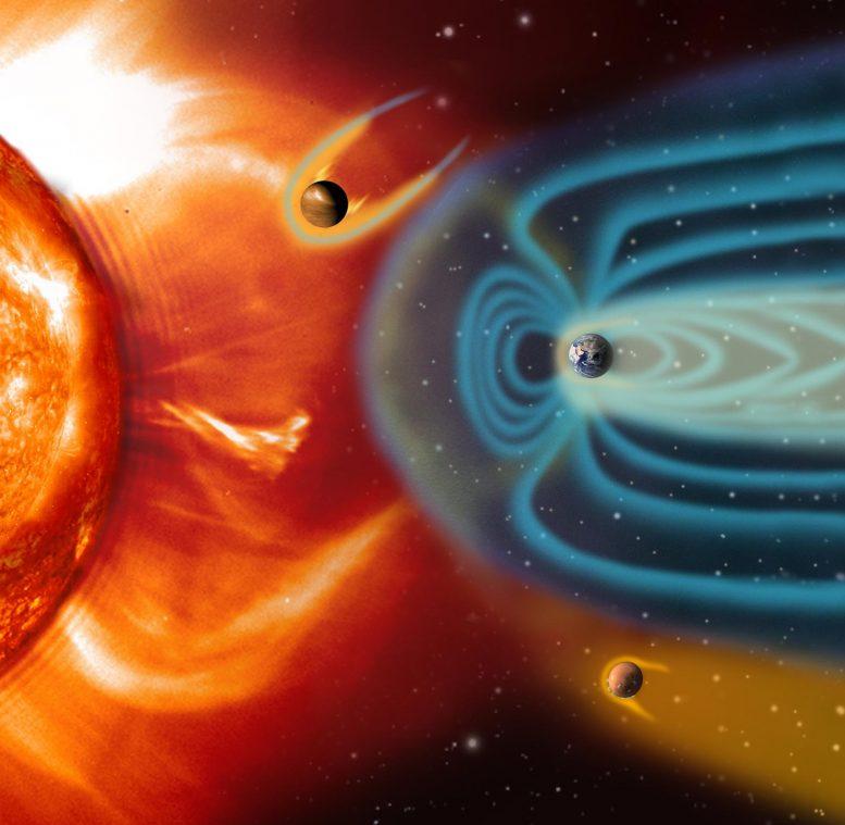 Terrestrial Planet Magnetospheres