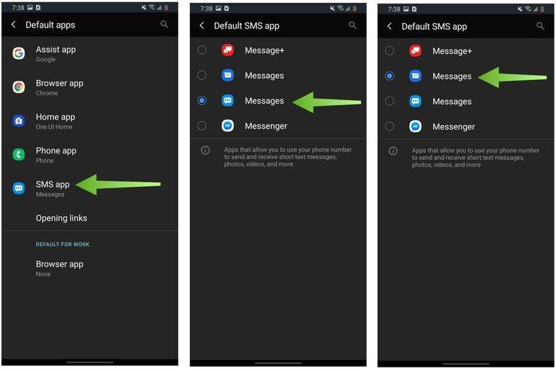 Samsung Galaxy Change Default Apps Step 2