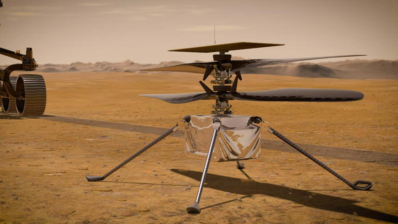 NASAs Mars Helicopter Ingenuity aboard the Perseverance rover recharges for the first time in space