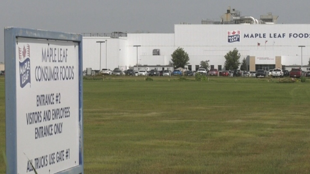 COVID-19 cases rise in Maple Leafs Foods plant in Brandon, Man.