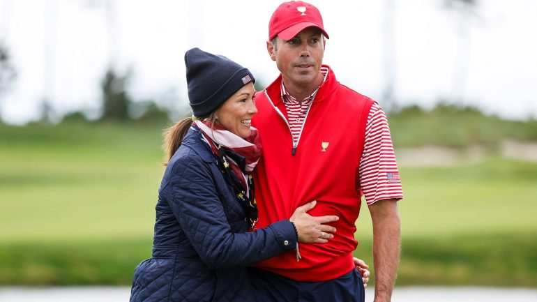 Matt Kuchar, longtime caddie John Wood split; Wife Sybi on bag at BMW