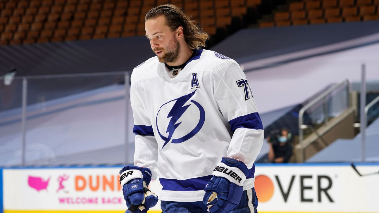 Coach Jon Cooper, Lightning have 'to circle wagons' after losing defenseman Victor Hedman to injury in round-robin finale