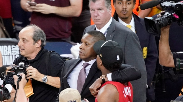 New video shows altercation between Raptors president Masai Ujiri and security guard