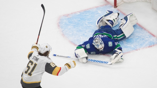 Vegas Golden Knights scores three in third to top Vancouver Canucks and take 3-1 series lead