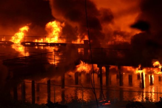 Section of New Westminster's Pier Park likely 'completely destroyed' by massive fire: Mayor