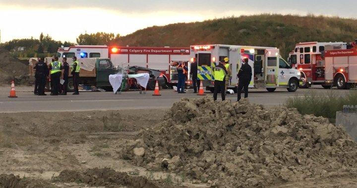 2 killed, 2 injured in 2-vehicle crash on Spruce Meadows Trail in Calgary - Calgary