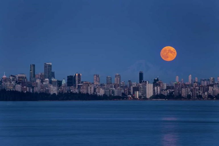 A dazzling full 'harvest moon' is set to illuminate Vancouver skies next week