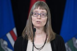 Alberta's chief medical officer of health Dr. Deena Hinshaw provided an update, from Edmonton on Tuesday, May 19, 2020, on COVID-19 and the ongoing work to protect public health. (photography by Chris Schwarz/Government of Alberta)