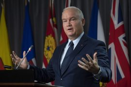 Conservative Leader Erin O'Toole speaks during a news conference in Ottawa on Oct. 20, 2020.