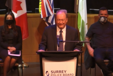 Faced with questions about city-owned car, Surrey mayor laughs