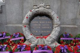Remembrance Day ceremony held at Victory Square in Vancouver