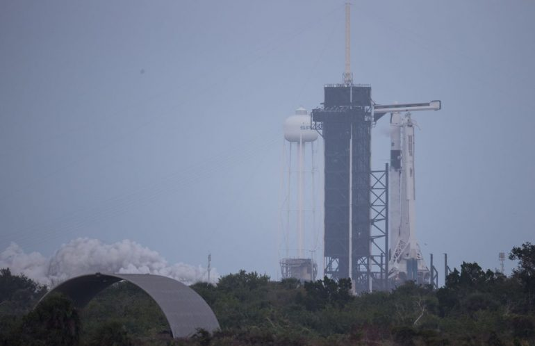SpaceX just test fired the Falcon 9 rocket for its astronaut launch for NASA