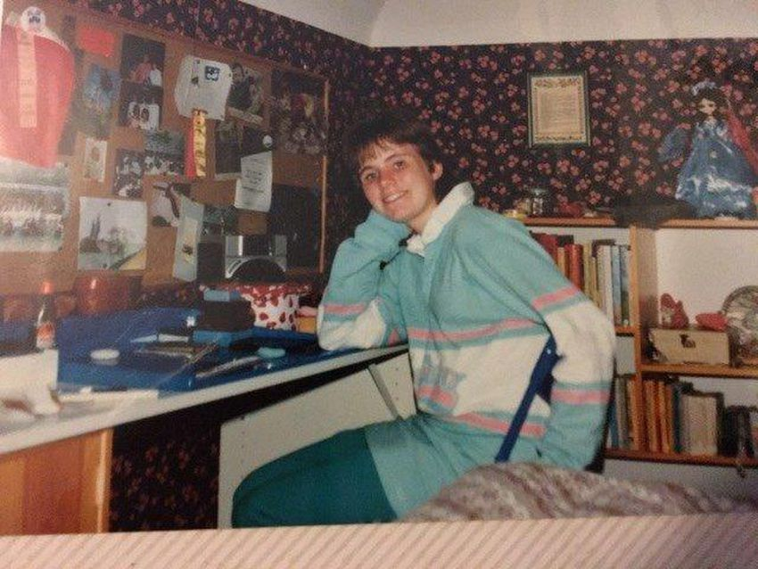 Alison Jenkins in her old room growing up in Toronto back in the 1980s.