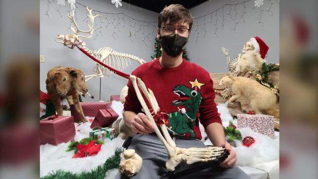 'Everyone copes differently': Man receives his own taxidermied leg just in time for Christmas