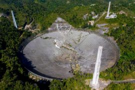 Footage shows catastrophic collapse of iconic Puerto Rico telescope