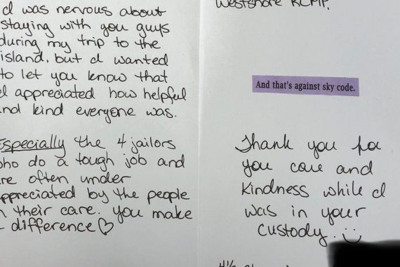 Canada: Women Thank You - Four and a half stars for police custody