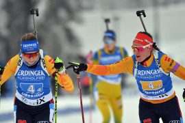German Relay Women Cheer at Oberhof - Biathlon - Winter Games