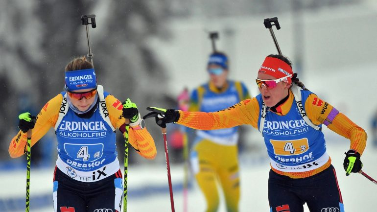 German Relay Women Cheer at Oberhof - Biathlon - Winter Games