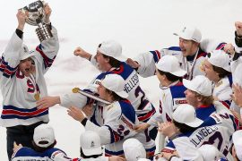 Ice Hockey: Jerk for Canada!  United States U20 World Champion - Winter Games