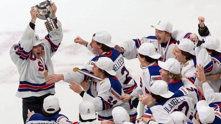 Ice Hockey: Jerk for Canada!  United States U20 World Champion - Winter Games