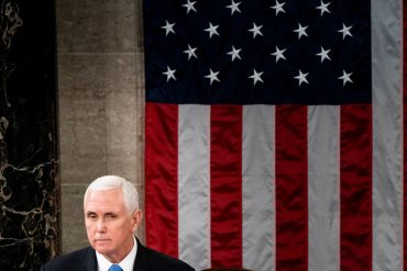 Mike Pence apparently attends Joe Biden's inauguration