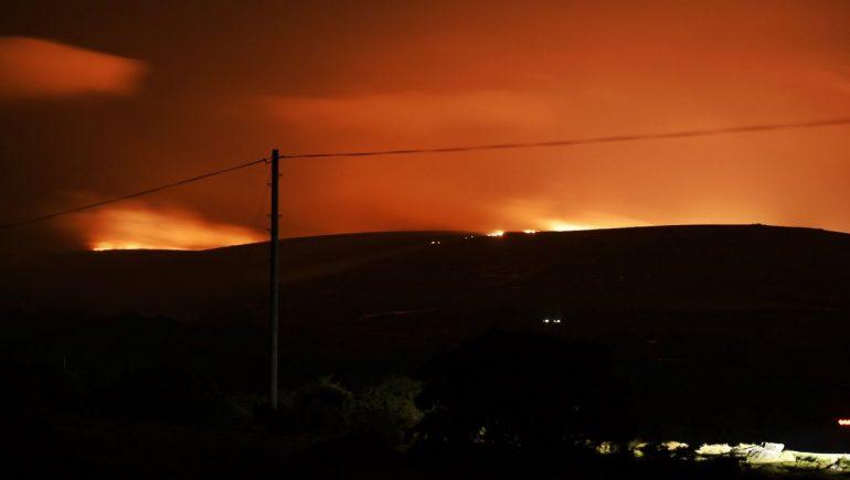 England: Dartmoor is on fire